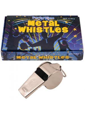 Metal Whistles Plain Silver