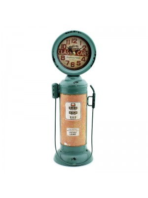 Metal Mantel Clock (Gas Pump) - 37cm
