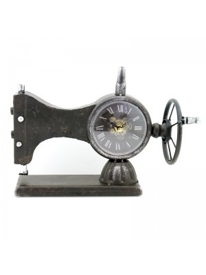 Metal Mantel Clock (Sewing Machine) - 24cm