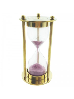 Metal Sandtimer in Gold & Pink