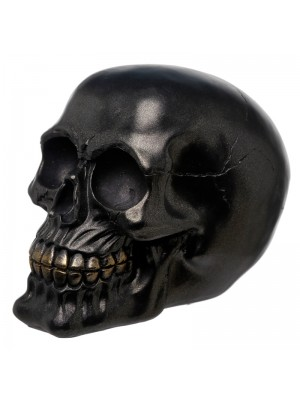 Wholesale Metallic-Black-Skull-Figurine-81987