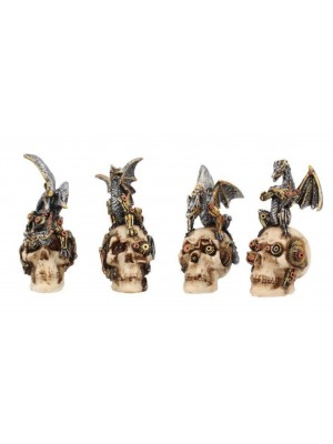 Mind Machines Steampunk Dragons & Skulls 10.5cm (Set of 4)