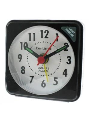 Acctim Ingot Quartz Mini Alarm Clock - Black