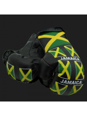 Mini Boxing Gloves - Multi Jamaica (Black)