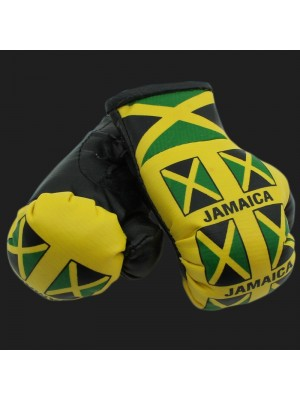 Mini Boxing Gloves - Multi Jamaica (Yellow)