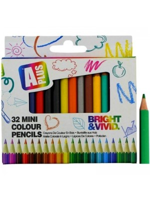Wholesale Mini Colouring Pencils - Assorted Colours (Pack of 32)