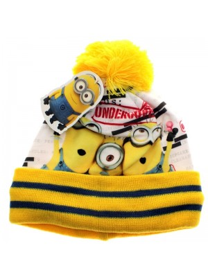 "Minions ""Undercover"" Design Pom Pom Hat - Assorted Colours"