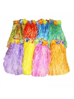 Hula Hawaiian Skirt - Assorted Colours (40cm)