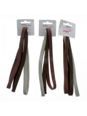 Molly & Rose 3 Elastic Headbands - Neutral Colours
