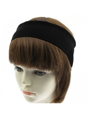 Wholesale Molly & Rose Plain Fabric Bandeaux Headband - Black