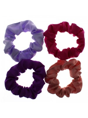 Wholesale Molly & Rose Small Satin Fabric Scrunchies - Assorted Colours
