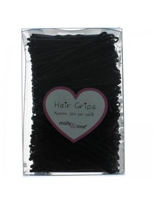 Wholesale Molly & Rose 500 Black Enamel Kirby Hair Grips (45 mm)
