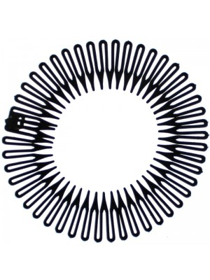 Moly & Rose Zig Zag Hair Flexible Comb - Black