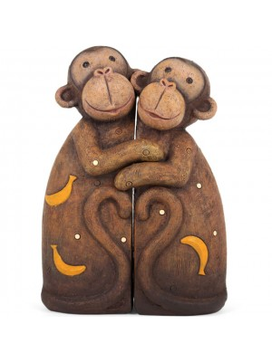 Monkey Couple Hugging Set