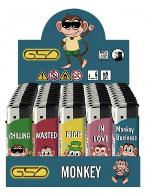 """Wholesale GSD Electronic """"Monkey"""" Design Refillable Lighters"""