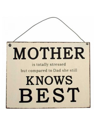 "Wholesale ""Mother is totally stressed but..."" Decorative Hanging Sign"