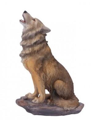 Mountains Cry Wolf Figurine - 20cm