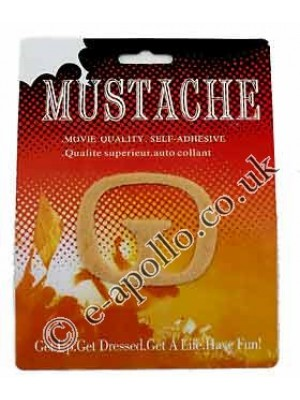 Movie Quality Self Adhesive Moustache - Blonde