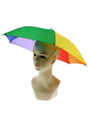 Multi Coloured Pride Umbrella Hat