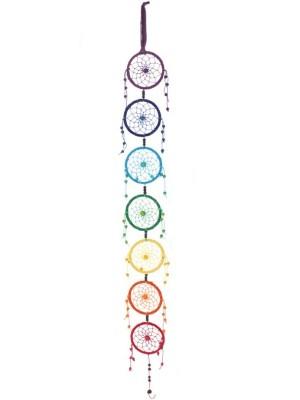 Wholesale Multi Coloured Rainbow Dreamcatcher With Beads - 88cm