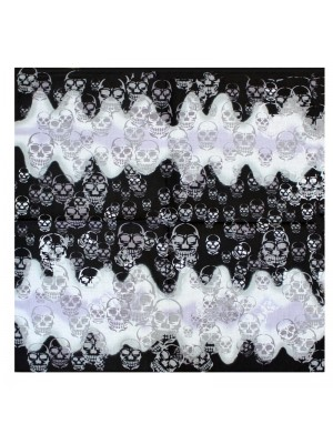 Multi Size Skulls on Shaded Bandana
