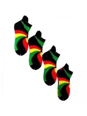 Rasta Multi Coloured Trainer Socks