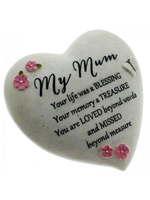 Mum Graveside Heart Stone