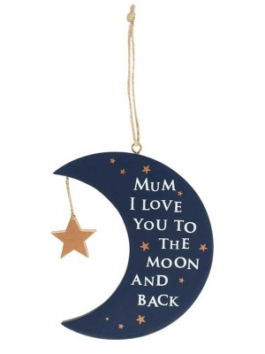 Wholesale Mum I Love You To The Moon & Back Hanging Sign