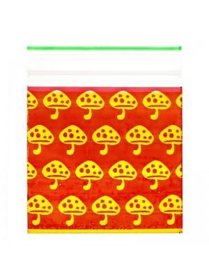 Wholesale Zipper Grip Seal Printed Baggies - Mushroom (40x40mm)