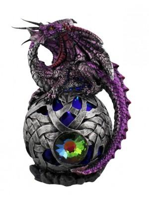 Wholesale Mystic Legends Purple Dragon On LED Ball