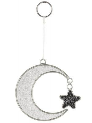 Mystical Crescent Moon Suncatcher - 13cm