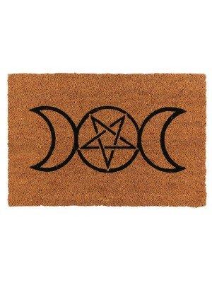 Natural Triple Moon Door mat