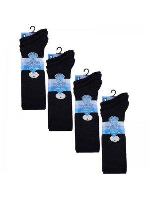 Wholesale Navy Knee High School Socks - Fresh Feel (3 Pair Pack) - (UK - 4-7)