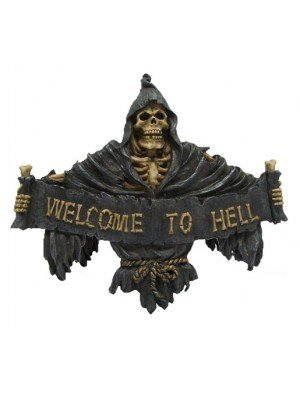 Wholesale Welcome to Hell Reaper Sign 25cm