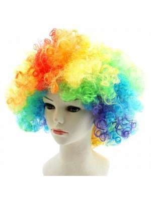 Neon Coloured Afro Wig - Rainbow