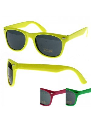 Neon Coloured Wayfarer Sunglasses - Assorted Colours