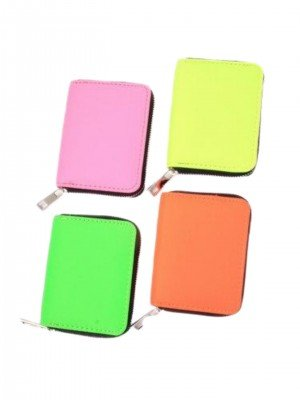 Neon Fabric Zip Coin Purse - Assorted Colours