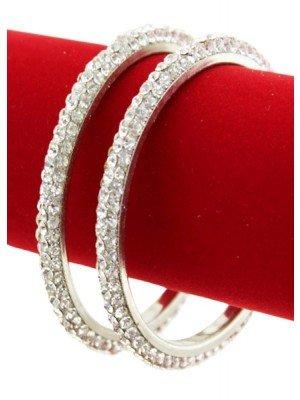 Wholesale Crystal Diamante Bangle Set - (Size 2*8)