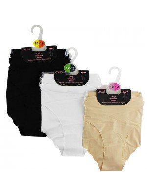 Wholesale Ladies (1 Pack) Invisible Briefs - Assorted Sizes & Colours