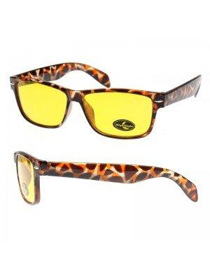Nightsight Wayfarer Sunglasses (Yellow Lens) With A Pouch