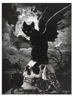 Wholesale Nine Lives Of Poe Canvas Plaque By Alchemy-25x19cm