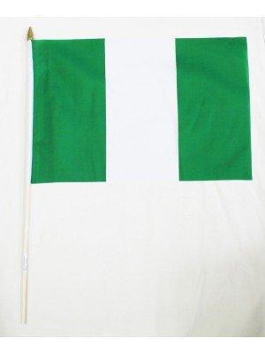Nigeria Hand Flag (46cm by 30cm)
