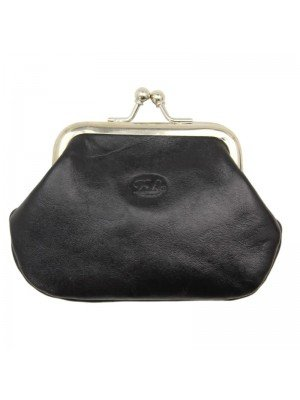 Ladies Genuine Leather Coin Purse - Black
