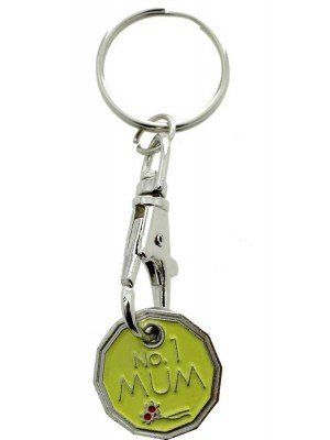 Wholesale Trolley Coin Keyrings-No.1 Mum