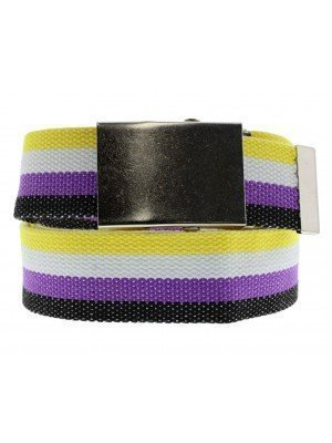 Non Binary Canvas Webbing Belt With Sliding Buckle