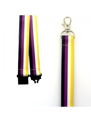 Wholesale Non-Binary Colours Design Lanyard with Lobster Claw Closure