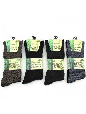 Non Elastic Super Soft Bamboo Socks UK 6-11 (Assorted Colours)