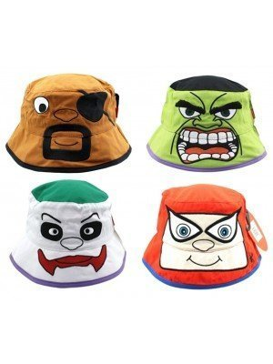 Wholesale Novelty Bucket Hat With Animated Faces - Assorted Designs