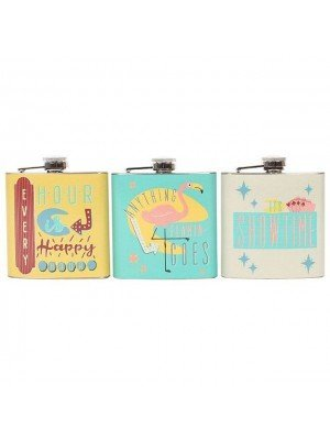 Novelty Metal Hip Flasks - Assorted Designs