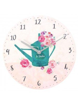 Wall Clock - Floral 'Fusion' Design